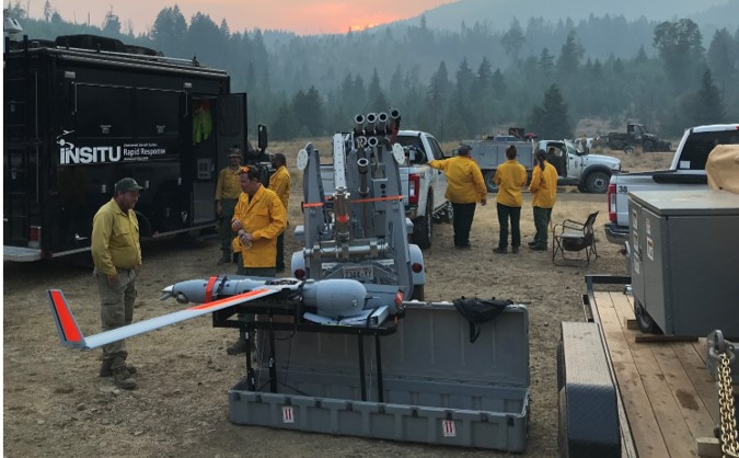 Insitu team Sets up to aid in wildfire relief