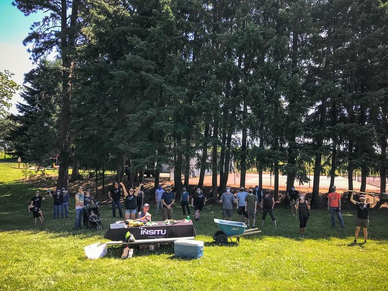 Volunteers help out at Oak Grove Park