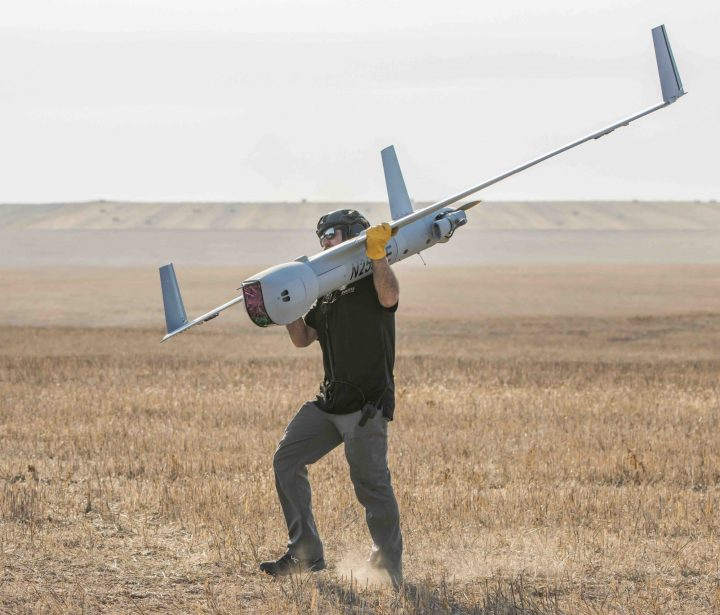 FSR carrying ScanEagle