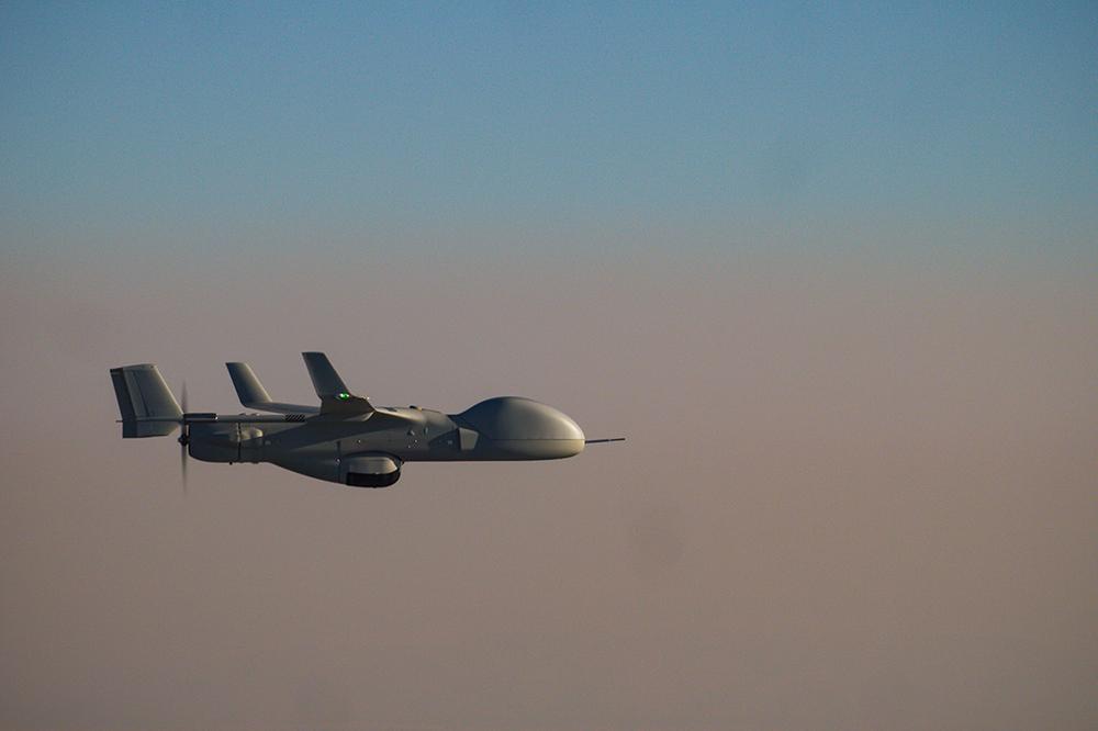 BLackjack Extended range flying over clouds.